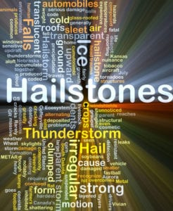 Hailstones roofing inspection right after storm